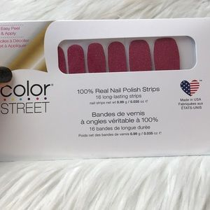 Color street strip nails Cran-tastic